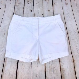 J Crew 'broken in' white chino pocketed shorts